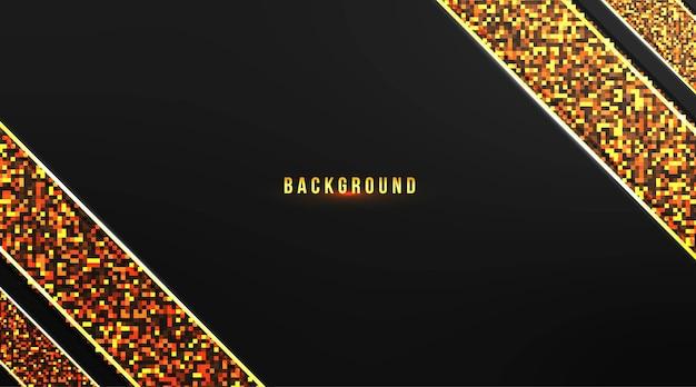 Abstraktes hintergrunddesign mit goldstreifen