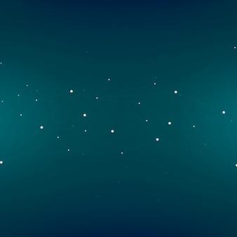 Abstraktes hintergrunddesign mit sternen auf blau