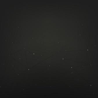 Abstraktes hintergrunddesign mit sternen auf schwarzem