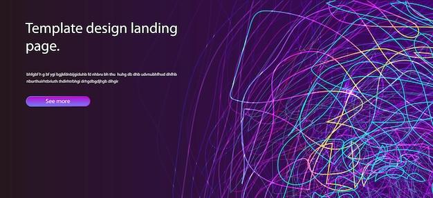Abstraktes hintergrunddesign wellenlinien in der perspektive zukunftsstil der technologiewissenschaft für poster