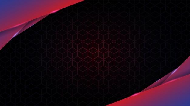 Abstraktes hintergrundgradientendesign mit geometrischer fluidformzusammensetzung. futuristisches minimum