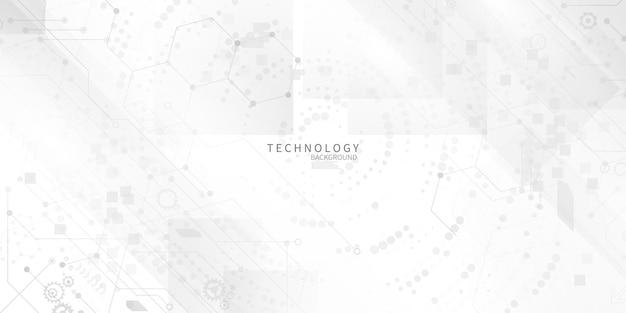 Abstraktes hintergrundplakat mit dynamik. technologie-netzwerk vektor-illustration. Premium Vektoren