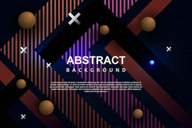 Abstraktes hintergrundschablone memphis modernes geometrisches neondesign