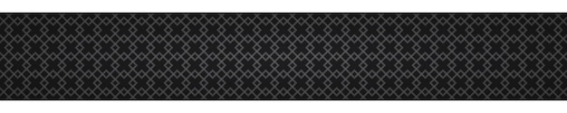 Abstraktes horizontales banner aus ineinander verschlungenen kleinen quadraten auf schwarzem hintergrund
