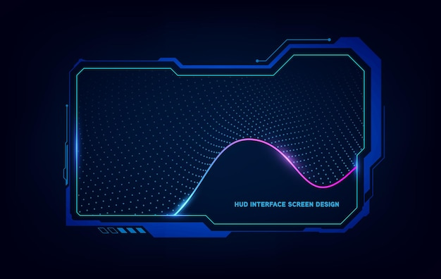 Abstraktes hud ui gui zukünftiges futuristisches bildschirmsystem virtuelles design. vektorillustration eps10