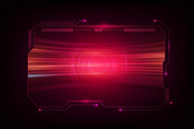 Abstraktes hud ui gui zukünftiges futuristisches bildschirmsystem virtuelles design