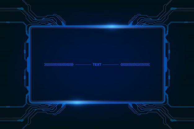 Abstraktes hud ui gui zukünftiges futuristisches bildschirmsystem