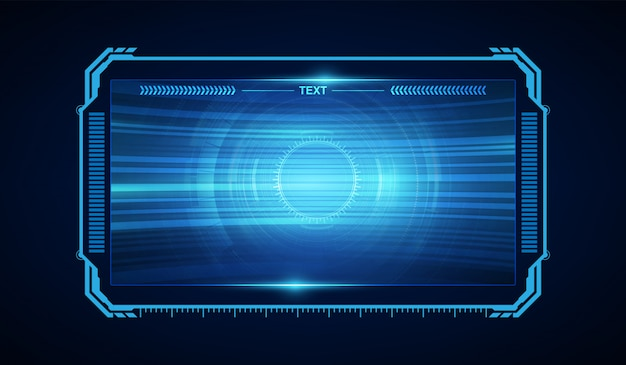 Abstraktes hud ui gui zukünftiges futuristisches virtuelles design des schirmsystems