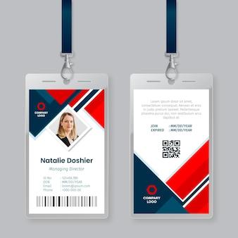 Abstraktes id-karten-schablonenkonzept