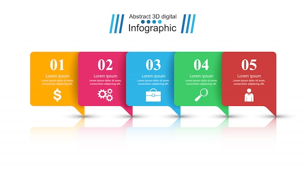 Abstraktes infografik