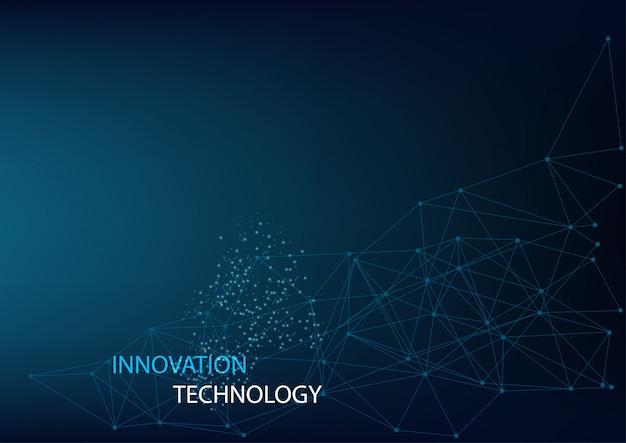 Abstraktes innovations- und technologiekonzept mit geometrischem konzept Premium Vektoren