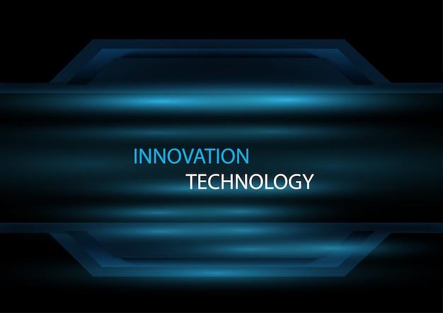 Abstraktes innovations- und technologiekonzept mit lichteffektdesign-konzepthintergrund.