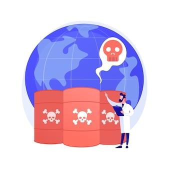 Abstraktes konzept der chemischen verschmutzung