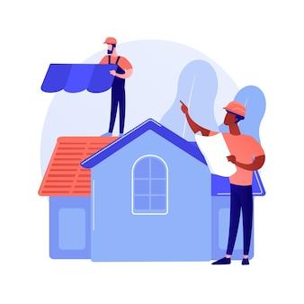 Abstraktes konzept der dachdeckerdienstleistungen