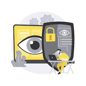 Abstraktes konzept der eye-tracking-technologie