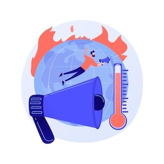 Abstraktes konzept der globalen erwärmung