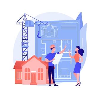Abstraktes konzept der immobilienentwicklung