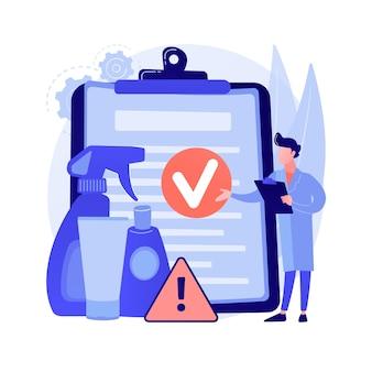 Abstraktes konzept der produktsicherheitskontrolle