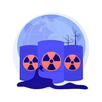 Abstraktes konzept der radioaktiven verschmutzung