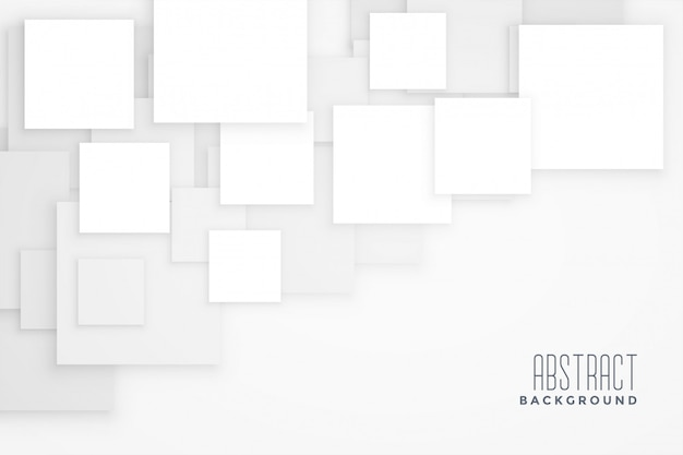 Abstraktes konzept des weißen quadrats konzept