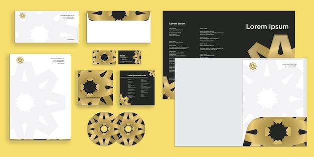 Abstraktes kreis-labyrinth-muster moderne corporate business-identität stationär