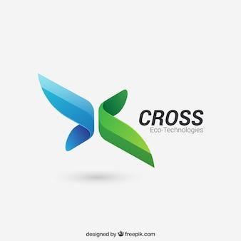 Abstraktes Kreuz-Logo