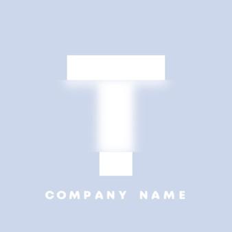 Abstraktes kunstalphabetbuchstabe t-logo. glasmorphismus. unscharfe schriftart, typografie-design, buchstaben und zahlen des alphabets. defokussieren sie schriftdesign, fokussiertes und defokussiertes stilalphabet. vektor-illustration