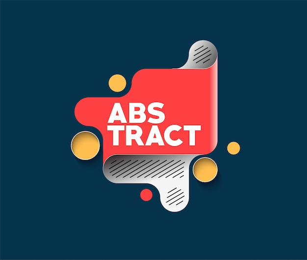 Abstraktes label-banner-poster mit platz für ihren text, vektor-illustration design-formen.