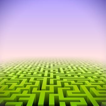 Abstraktes labyrinth der grünen perspektive