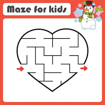 Abstraktes labyrinth. spiel für kinder. puzzle für kinder. cartoon-stil. labyrinth-rätsel.