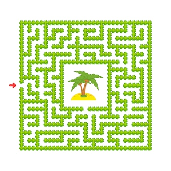 Abstraktes labyrinth. spiel für kinder. puzzle für kinder. cartoon-stil.