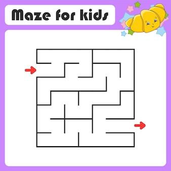 Abstraktes labyrinth-spiel für kinder puzzle für kinder coon-stil