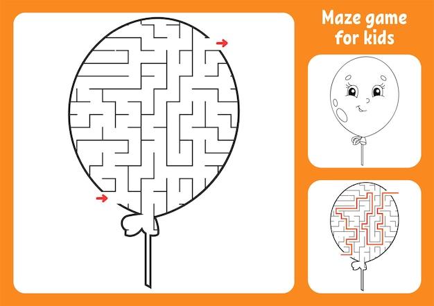 Abstraktes labyrinth. spiel für kinder. puzzle für kinder. Premium Vektoren
