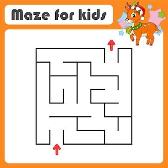 Abstraktes labyrinth. spiel für kinder. puzzle für kinder.