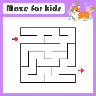 Abstraktes labyrinth spiel für kinder puzzle für kinder