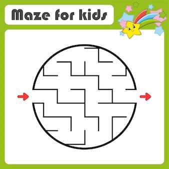 Abstraktes labyrinth-spiel für kinder