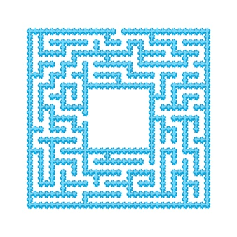Abstraktes labyrinth.