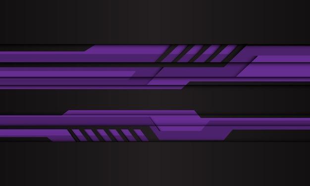 Abstraktes lila cyber-polygon auf moderner futuristischer technologie des schwarzen entwurfs.