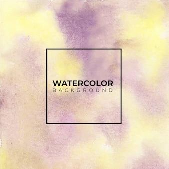 Abstraktes lila und rosa aquarell auf weißem hintergrund. die farbe spritzt im papier. es ist eine hand gezeichnet.