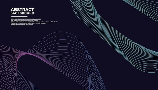 Abstraktes linienlied mit strahlendem hintergrunddesign