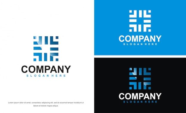 Abstraktes logo der technologie
