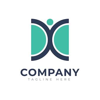 Abstraktes logo-design für das gesundheitswesen