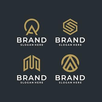 Abstraktes logo design pack