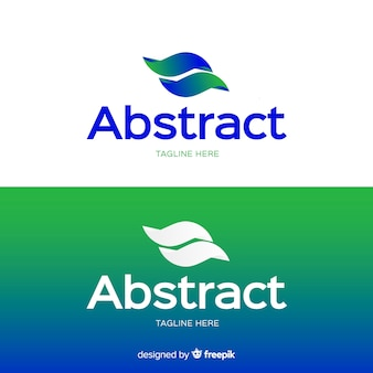 Abstraktes logo für hellen und dunklen hintergrund