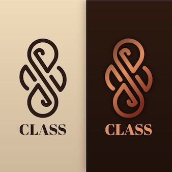 Abstraktes logo im zwei-versionen-stil