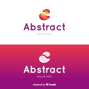 Abstraktes logo in der steigungsart