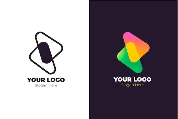 Abstraktes logo in zwei versionen konzept