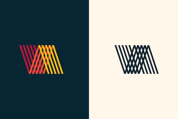 Abstraktes logo in zwei versionen