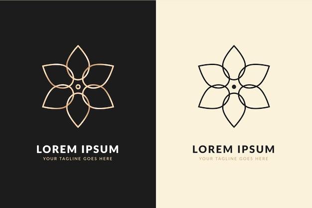 Abstraktes logo in zwei versionsentwürfen