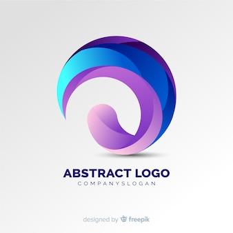 Abstraktes logo mit farbverlauf